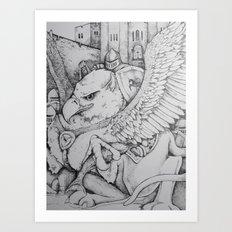 Griffen Art Print