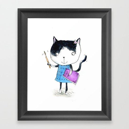 Creative Mono Cat  Framed Art Print