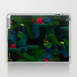 Animals in the jungle on the ruins Laptop & iPad Skin