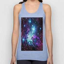 Fox Fur Nebula : Purple Teal Galaxy Unisex Tank Top