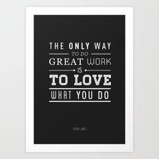 Type Poster - Steve Jobs Art Print
