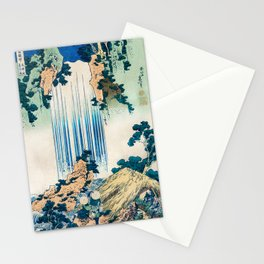 Katsushika Hokusai - A Tour of the Waterfalls of the Provinces (1834) - Yoro Waterfall in Mino Stationery Cards