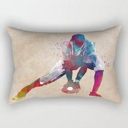 Baseball player 3 #baseball #sport Rectangular Pillow