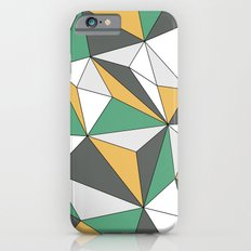 Geo - orange, green, gray and white. iPhone 6s Slim Case