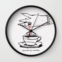 Extra Love for Mondays Wall Clock