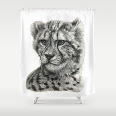 Young Guepard g094 Shower Curtain