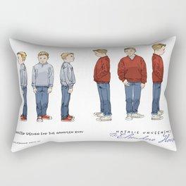 No.3 character designs for the Handlen boys, color Rectangular Pillow