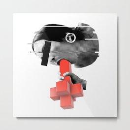 String Puppet Cross 2 Metal Print