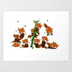 PandaMania Art Print
