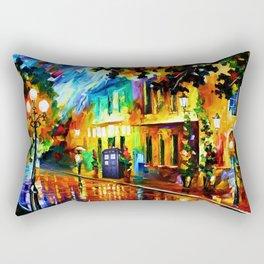 Tardis Art And The Light Street Rectangular Pillow