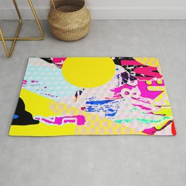 The River Flow - Abstract Pop Art Painting & Comic Rug