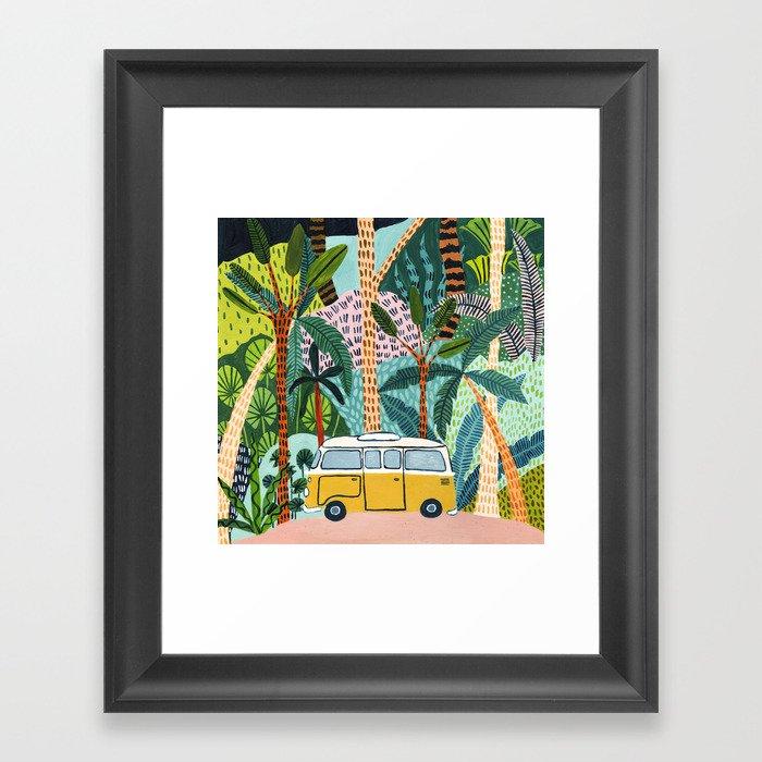 Jungle Camper Gerahmter Kunstdruck