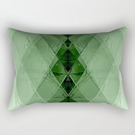 Geometric emerald stone crystal digital illustration Rectangular Pillow