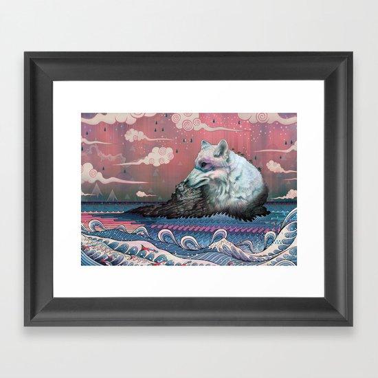 Lone Wolf Framed Art Print