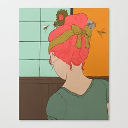 Girl with Wasps Canvas Print