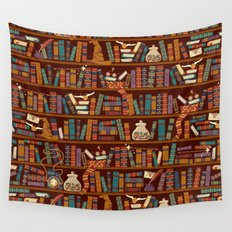 Bookshelf Wall Tapestry