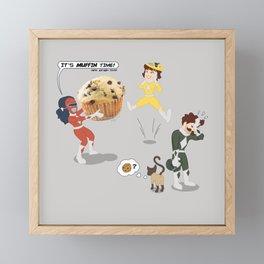 Mighty Muffin Murder Rangers Framed Mini Art Print