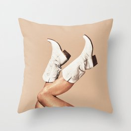 These Boots - Nude Throw Pillow