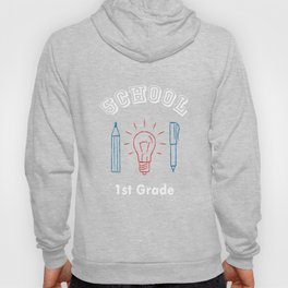 1st First Grade Inventor Back to School design Hoody