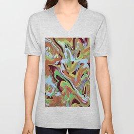 Abstract Music orange Conga Rhythm pattern Unisex V-Neck