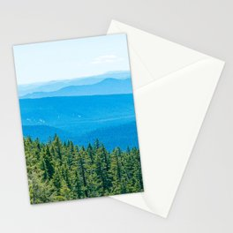 Artistic Brush // Grainy Scenic View of Rolling Hills Mountains Forest Landscape Photography Stationery Cards