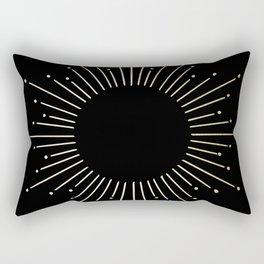 Mod Sunburst Gold 1 Rectangular Pillow