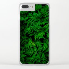 Deep Forest Ferns Clear iPhone Case