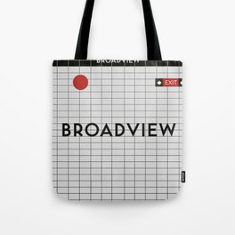 BROADVIEW | Subway Station Tote Bag