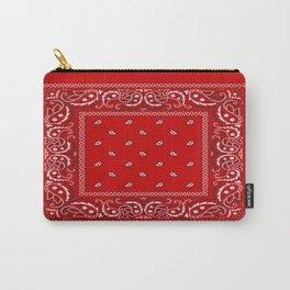 Paisley - Bandana - Red - Southwestern - Boho Carry-All Pouch