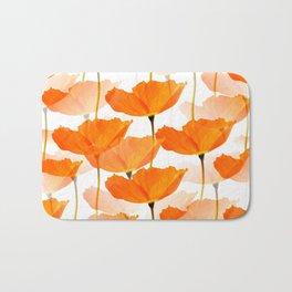 Orange Poppies On A White Background #decor #society6 #buyart Bath Mat