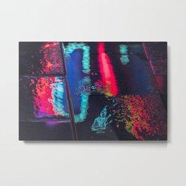 Seoul After Dark / Neon Reflection / Liam Wong Metal Print