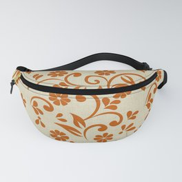 """Orange Flowers & Natural Texture"" Fanny Pack"