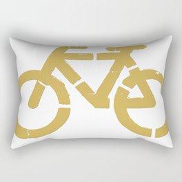 Bicycle road sign Rectangular Pillow