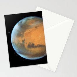 1101. NASA's Hubble Sees Martian Moon Orbiting the Red Planet Stationery Cards