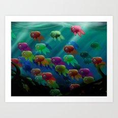 Swim On By Art Print