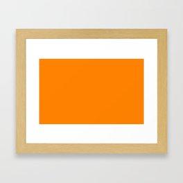color UT orange Framed Art Print