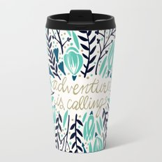 Adventure is Calling – Navy & Mint Palette Travel Mug