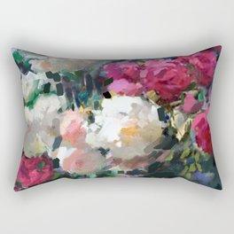 White & Pink Roses Rectangular Pillow