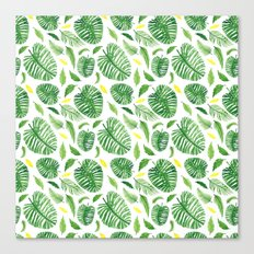 Palm leaf pattern Canvas Print