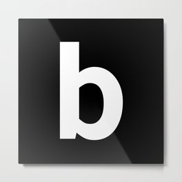 letter B (White & Black) Metal Print
