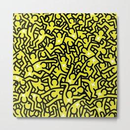 Keith Haring Variation #25 Metal Print