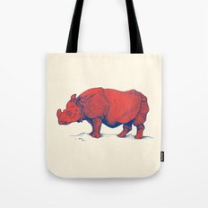 Red Rhino Tote Bag