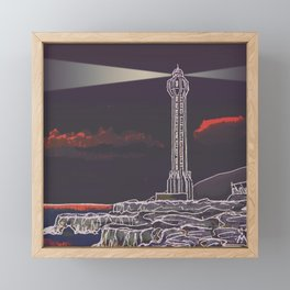 Lighthouse / Punta Lava La Palma Framed Mini Art Print