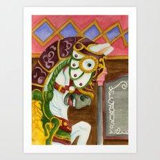Carousel Horse - Clyde Art Print