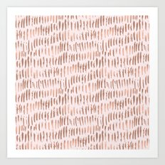 Blush Pink Rose Gold Abstract Art Print