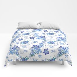 Purity of blue orchids - chic decor Comforters
