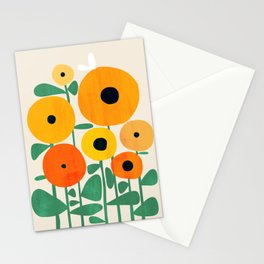 Sunflower and Bee Stationery Cards