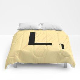 Scrabble L Decor, Scrabble Art, Large Scrabble Tile Initials Comforters