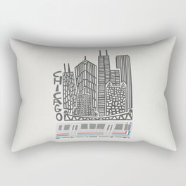 Chicago Cityscape Rectangular Pillow