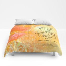 Serenity Prayer Orange Poppy Garden Glow Comforters